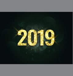 luxury style 2019 new year sparkles background vector image
