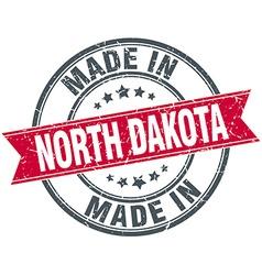 Made in North Dakota red round vintage stamp vector