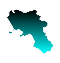 map campania vector image