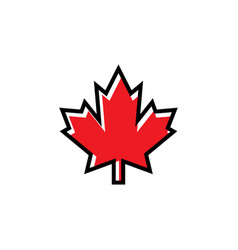 maple icon graphic design template vector image