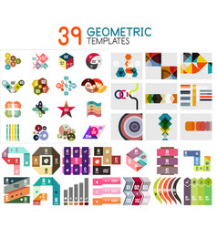 mega collection of geometric templates vector image
