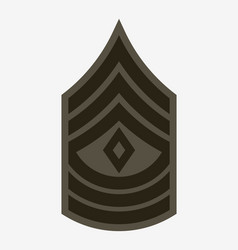 military ranks and insignia stripes and chevrons vector image
