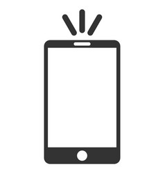 Mobile torch flat icon vector