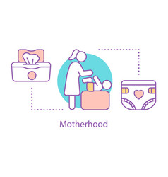Motherhood concept icon vector