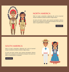 North and south america on vector