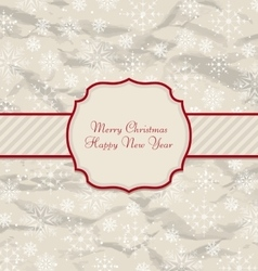 Old Invitation with Snowflakes Texture for Winter vector