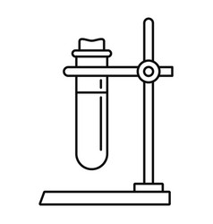 one test tube stand icon outline style vector image