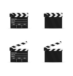 Open and closed movie flap set vector