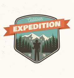 Outdoor expedition patch vector