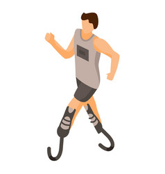 Paralympic run man icon isometric style vector