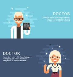 People Profession Concept Doctor Male and Female vector image