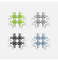 realistic design element prison vector image