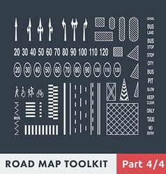 Road Map Toolkit vector image
