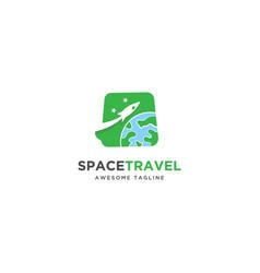 rocket tour travel logo design inspiration vector image
