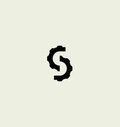 S letter service gear logo icon design abstract vector