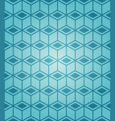 seamless blue cubes isometric background pattern vector image