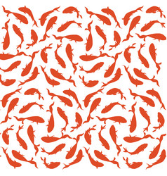 seamless pattern background with red and orange vector image