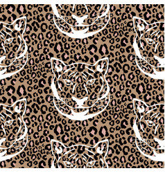 seamless pattern with cheetah animal print vector image