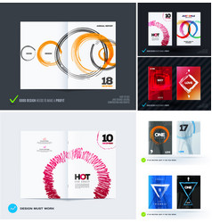 Set of abstract design template cover vector