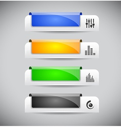 Set of color plastic buttons for web vector image vector image