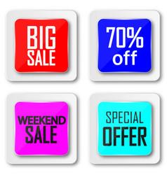 Set sale banner big sale super sale sale tag vector