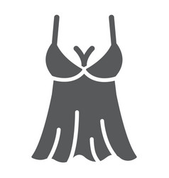 Sexy lingerie glyph icon valentine and holiday vector