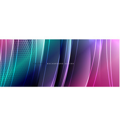 shining glass abstract wave background dynamic vector image