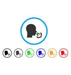 Sneeze rounded icon vector