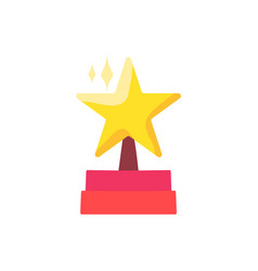 star on podium flat color vector image