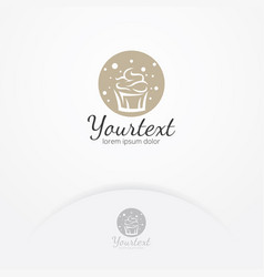 sweet cake logo design vector image