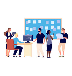 Teamwork concept discussion agenda office vector