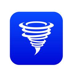 tornado icon digital blue vector image