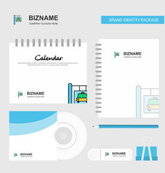 traffic board logo calendar template cd cover vector image