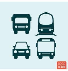Transport icon isolated vector