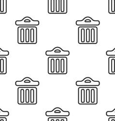 trash bin seamless pattern vector image