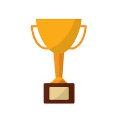 trophy cup icon image vector image
