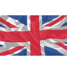 UK Flag waving vector image