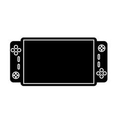 Video game console portable pictogram vector