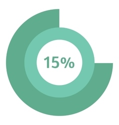 Web preloader 15 percent icon flat style vector