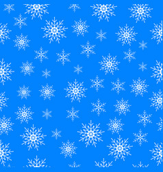 Winter snowflakes seamless background vector