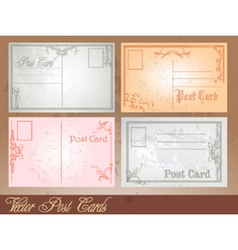 Postcard set vector image