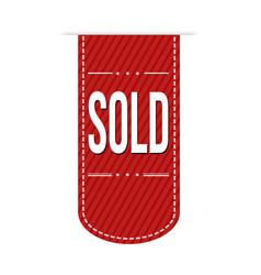 sold banner design vector image