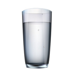 Water in a glass isolated vector