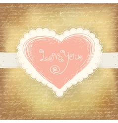 beautiful greeting valentines vector image vector image
