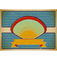 Cardboard retro label template vector image