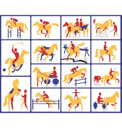 Equestrian and circus vector