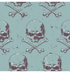 Grunge Skull Seamless 1 vector image vector image