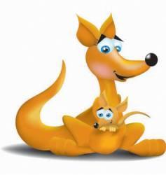 kangaroos vector image vector image