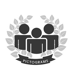 pictograms icons vector image