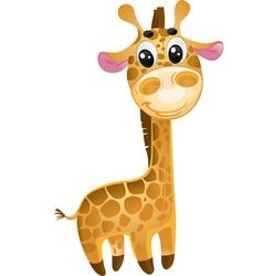 soft toys - baby giraffe vector image